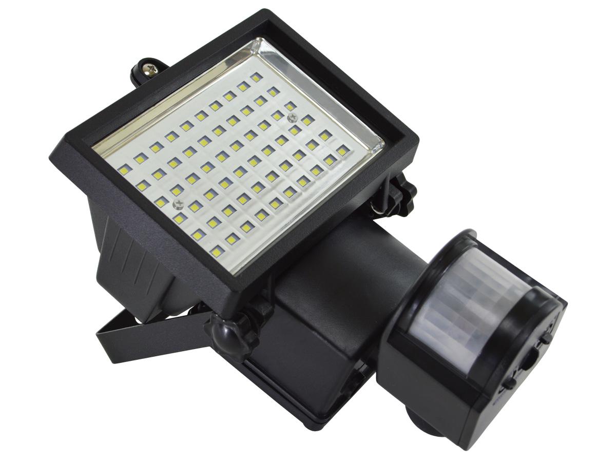 Lampa Solarna Naświetlacz Led 60 Diod Smd Z Czujnikiem Ruchu I Zmierzchu
