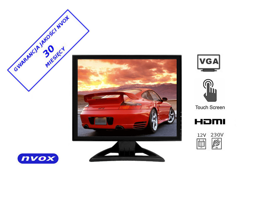 Dodatkowe NVOX MPC1550T Monitor dotykowy LCD 15